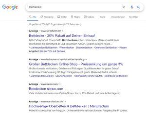 Google Ads Suchkampagne generisch