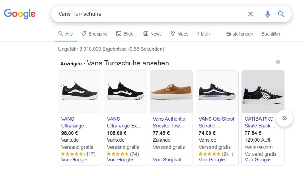 Google Shopping Kampagne